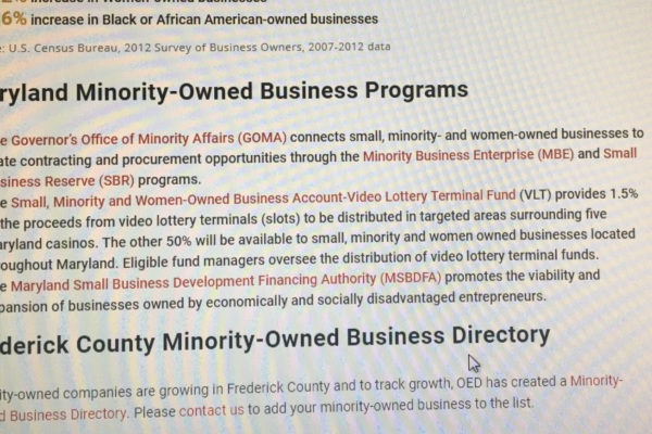 OED Launches Minority Business Database to Support Frederick Companies teaser image