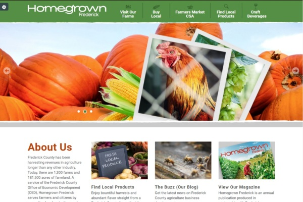OED Launches HomegrownFrederick.com; Existing DiscoverFrederickMD.com Redesigned teaser image