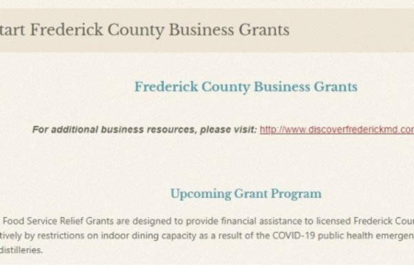 Grant Application Period Opens for Frederick County Food Service Establishments teaser image